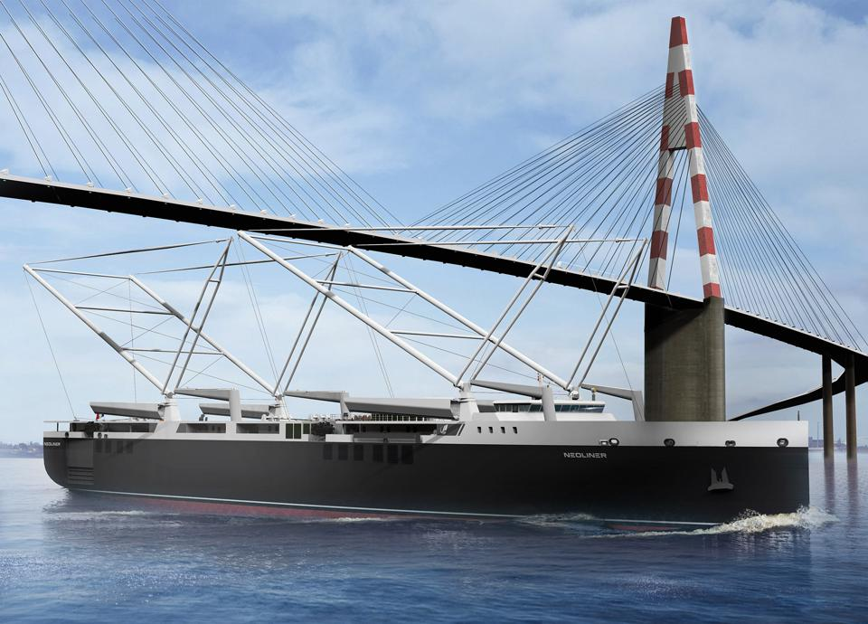 Neoline's masts fold down to pass under bridges