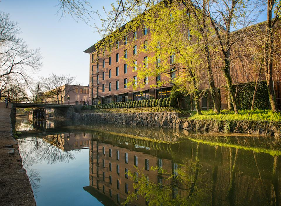 The Rosewood Hotel sits beside the historic and picturesque C&O Canal.
