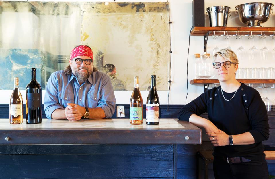C.L. Butaud's Randy Hester and Wine for the people's Rae Wilson