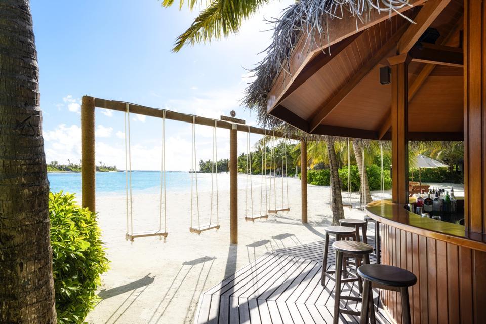 Swing set at the Sheraton Maldives