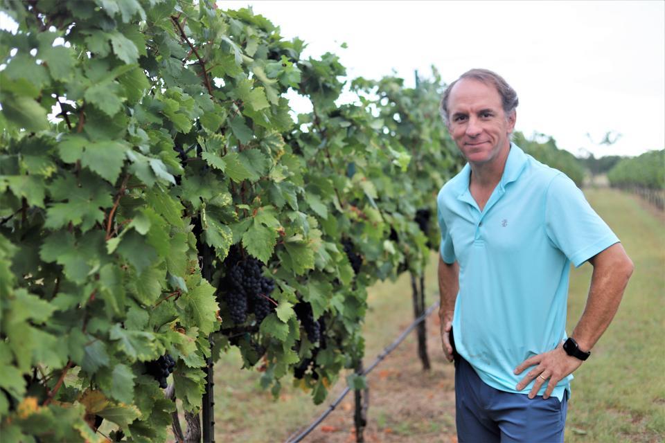 Sergio Cuadra, winemaker for Fall Creek, at the Salt Lick Vineyards.