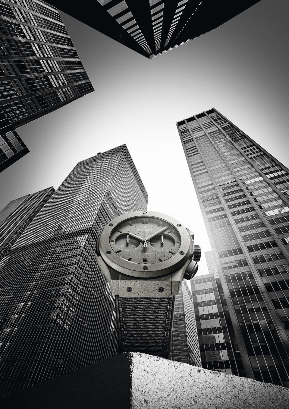 Hublot Unveils Concrete Jungle New York coment watch.