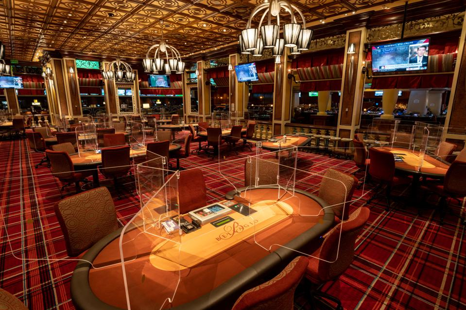 Poker room at the Bellagio
