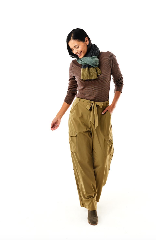 woman modeling pants