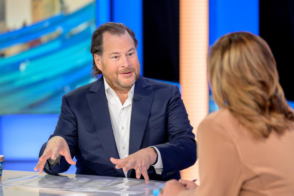 Salesforce Founder & Co-CEO Marc Benioff Visists ″Mornings With Maria″