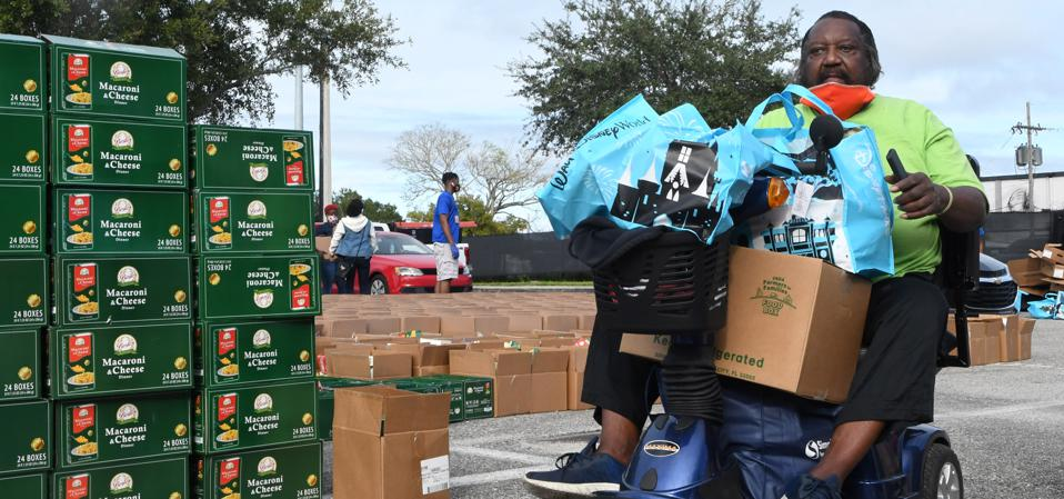 Food Distribution To The Needy In Orlando, Florida