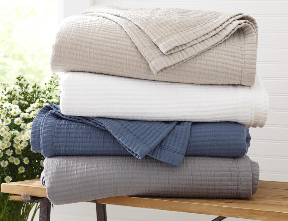 Riley Textured Cotton Coverlet