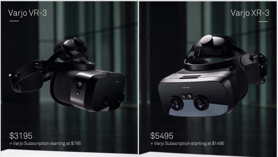 The VR-3 and XR-3 are Varjo's latest headsets, launching in 2021
