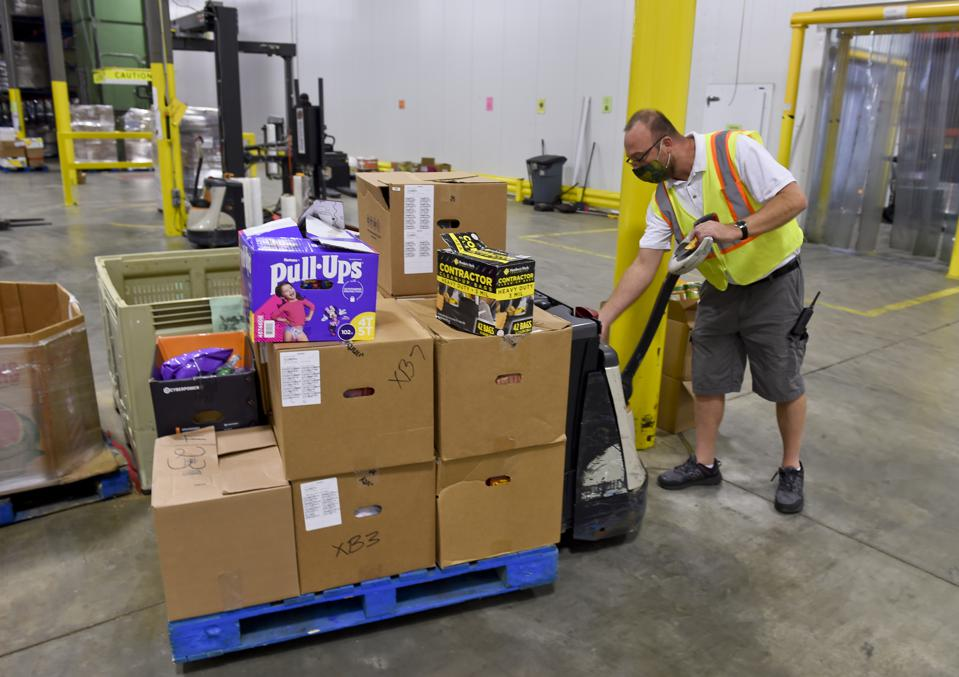 Food Donations To Helping Harvest Food Bank In Pennsylvania