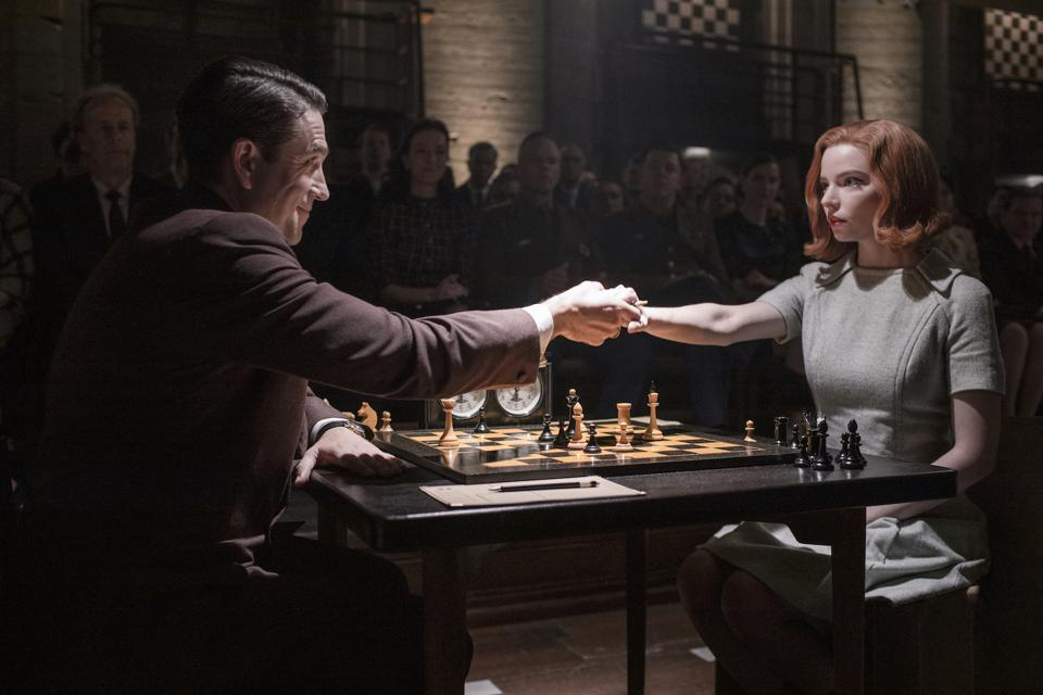 A scene from Netflix's 'The Queen's Gambit'
