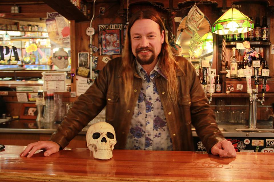 Jeremy Marshall is head brewer at Lagunitas Brewing Company in Petaluma, Calif.