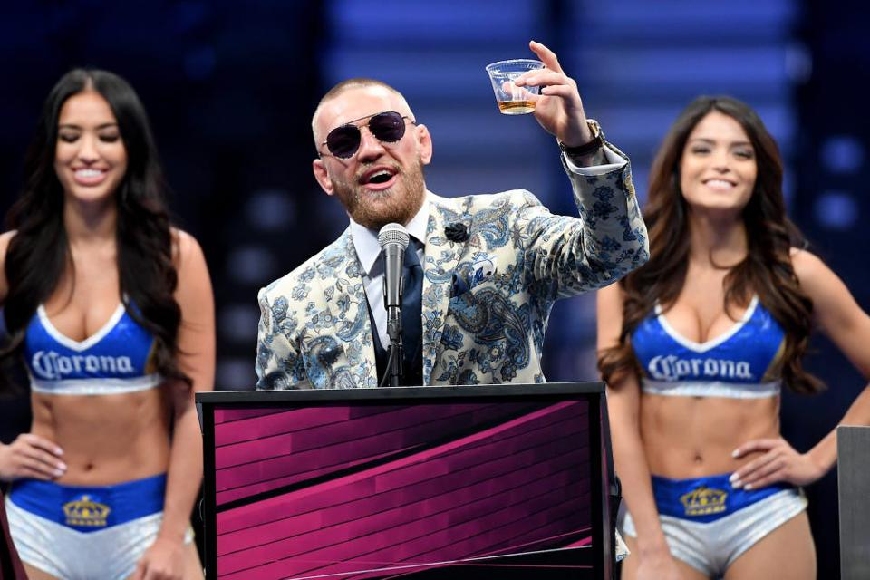 MMA fighter Conor McGregor and his whiskey
