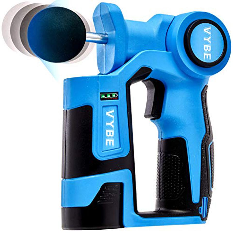 Vybe Percussion Massage Gun in blue