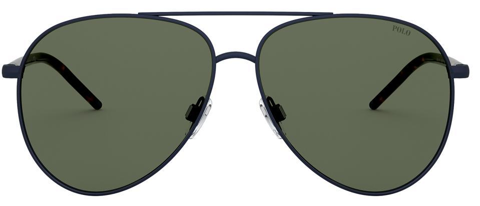 Polo Striped Pilot Sunglasses
