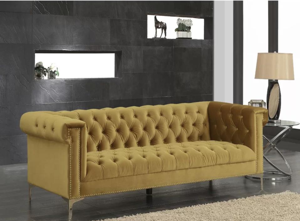 Mercer41 Batts velvet sofa