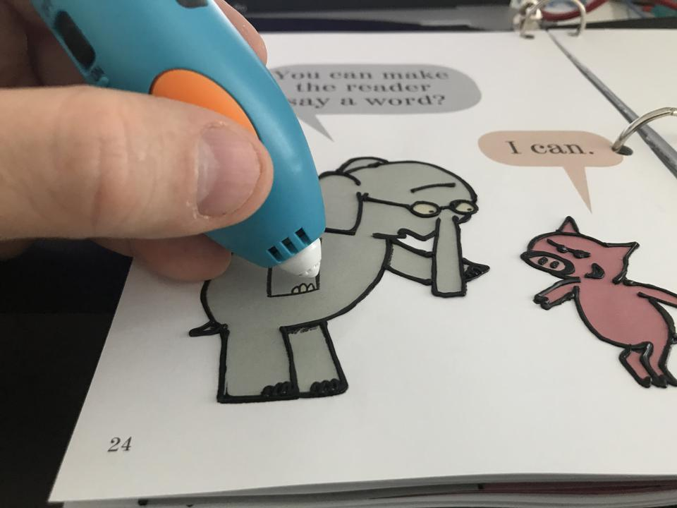 3Doodler allows you to doodle on your favorite children's books to make the stories come to life.