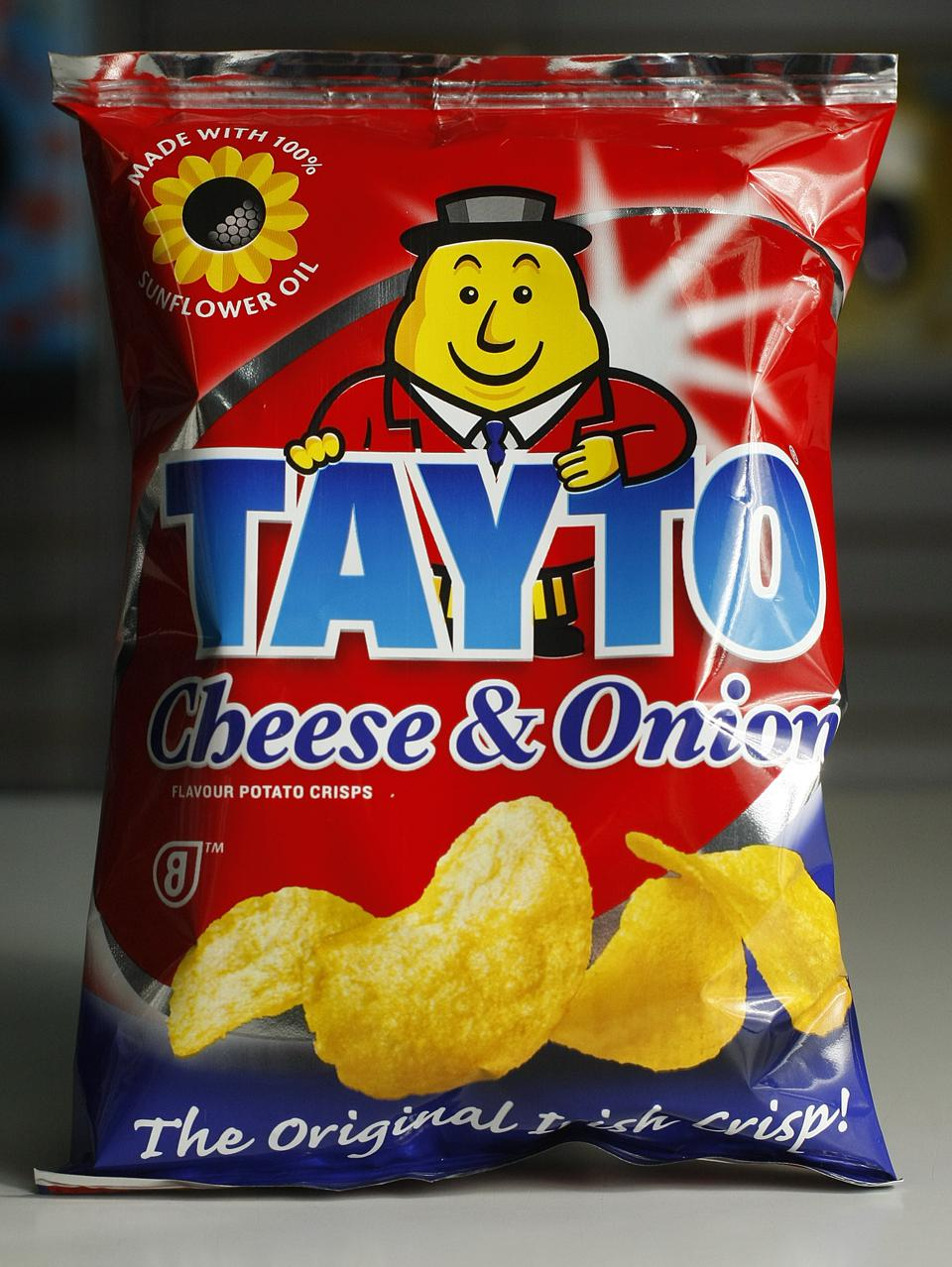 March 7, 2009 -A BIT OF HOME -Tayto cheese and onion flavour potato crisps. Product from Mississauga