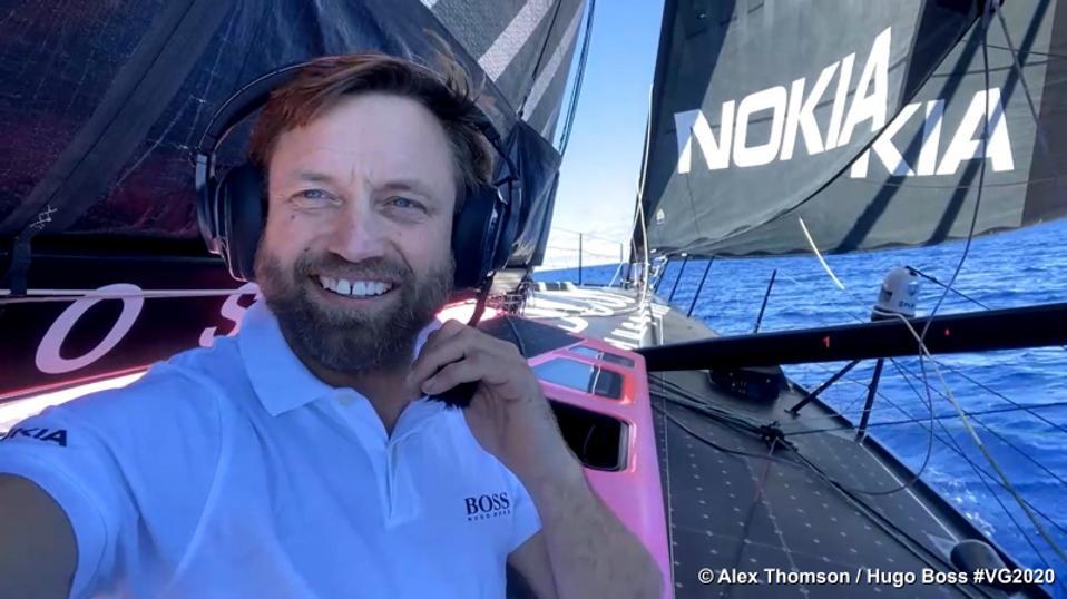 Skipper Alex Thomson in the boat Hugo Boss
