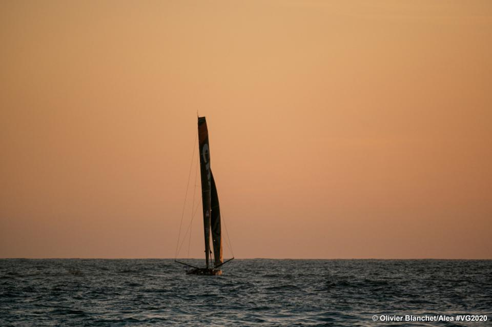 The boat Charal, skippered by Jeremie Beyou