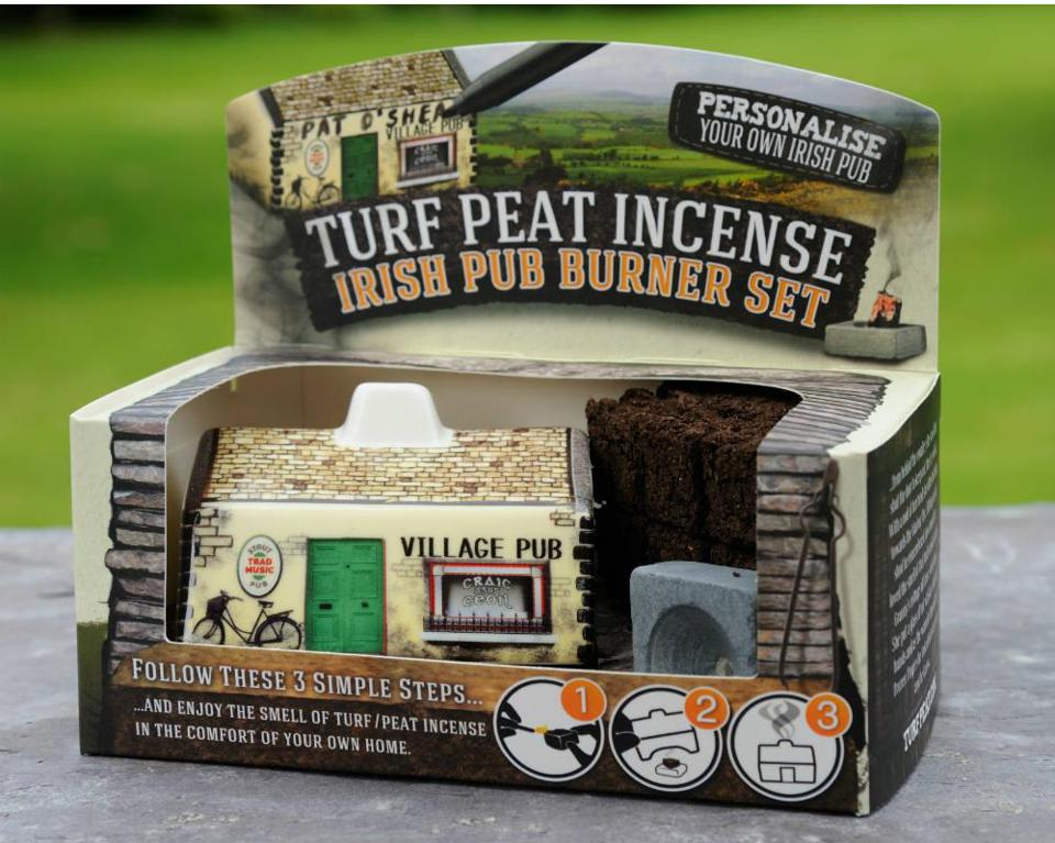 Irish turf peat incense burner