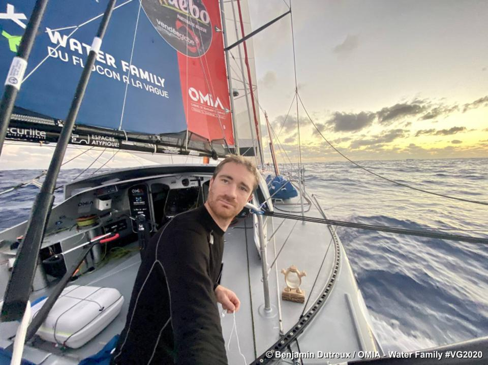 Skipper Benjamin Dutreux on the boat OMIA - Water Family