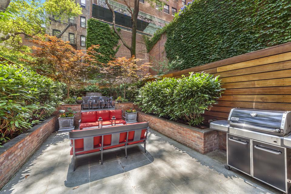 A private patio in Manhattan.