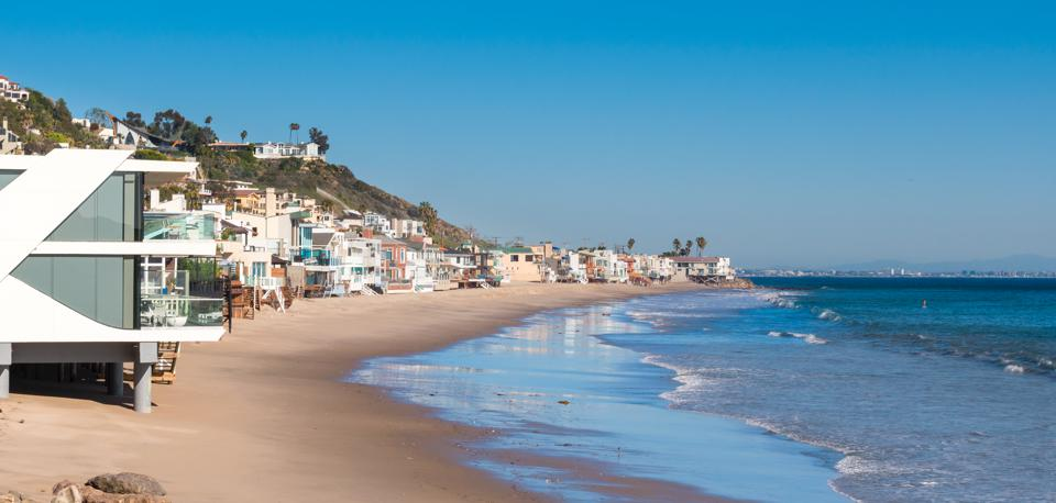 Malibu California Beach with Luxury Homes