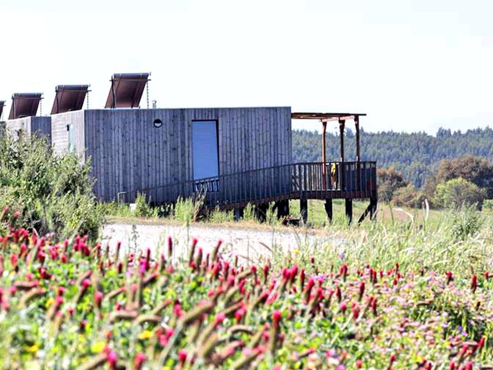 The camping cabins near the Costa Vicentina in the Alentejo, Portugal, are simple.