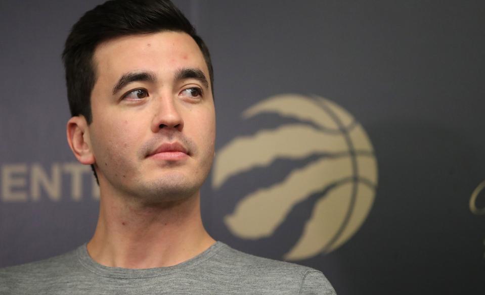 Toronto Raptors General Manager Bobby Webster addresses media on a quiet trade deadline day.
