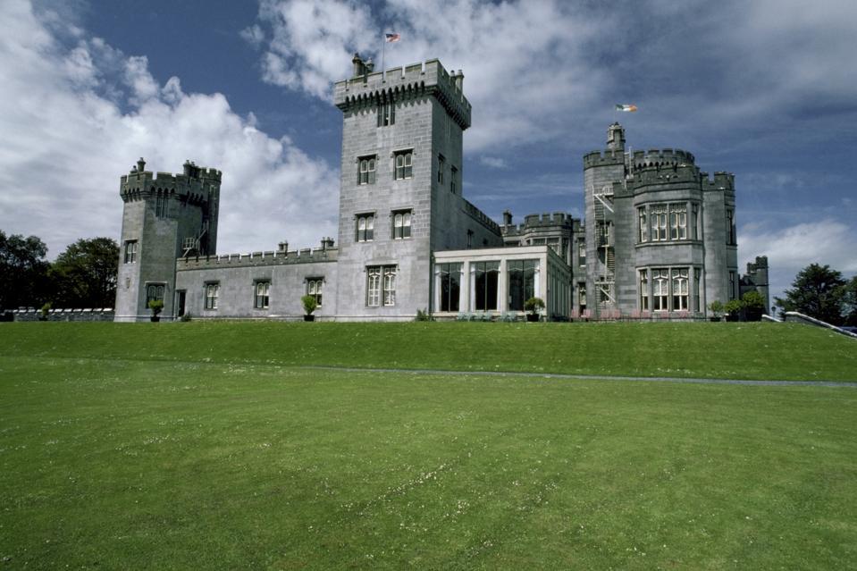 Low angle view of a castle, Dromoland Castle, Shannon, Republic of Ireland