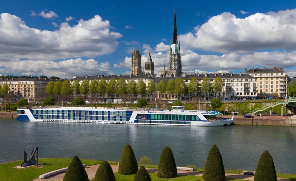 amawaterways cruise ship in river
