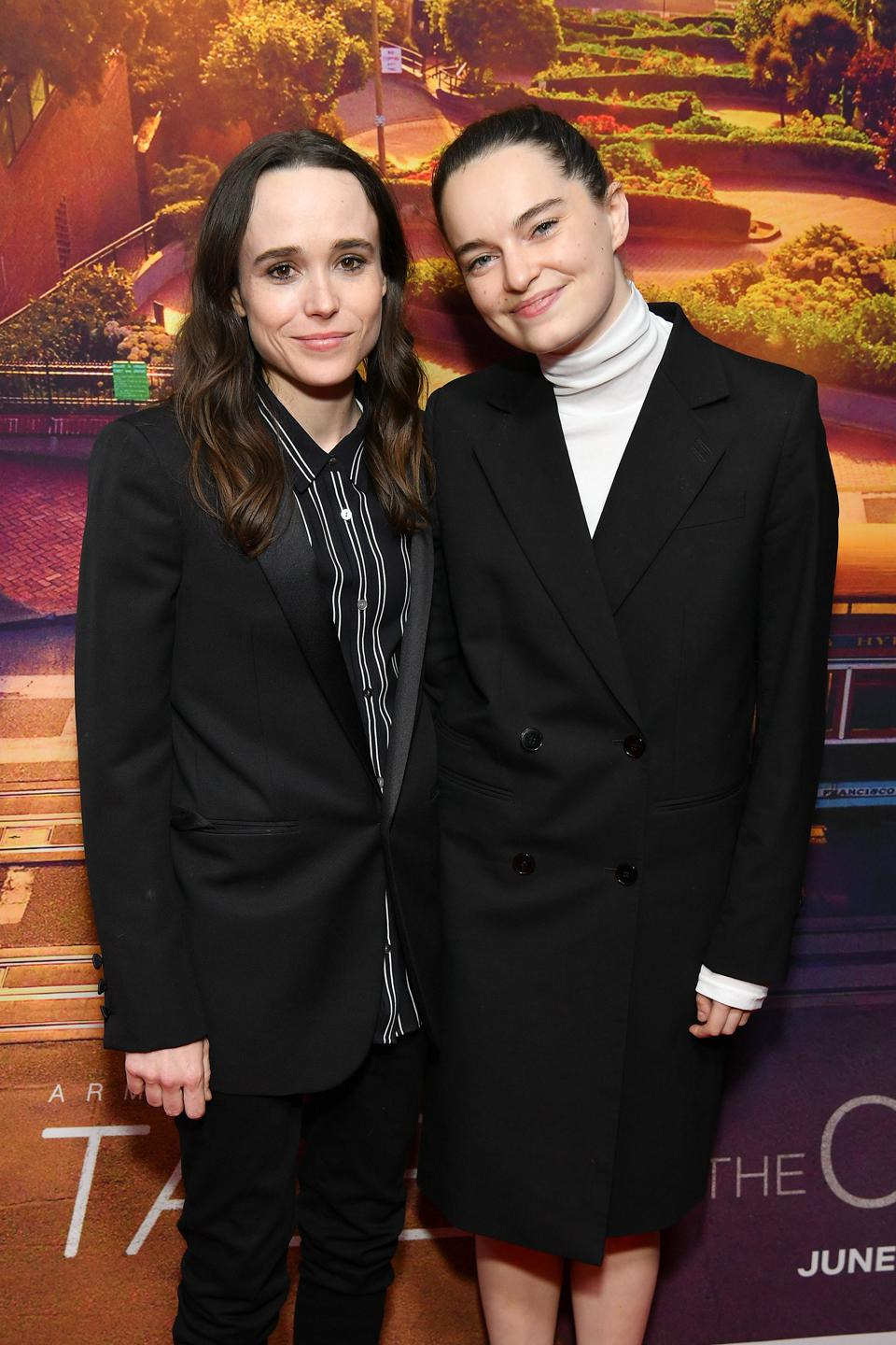 Elliot Page and wife Emma Portner attended the New York City premiere of the film ″Tales Of The City″ in June 2019.
