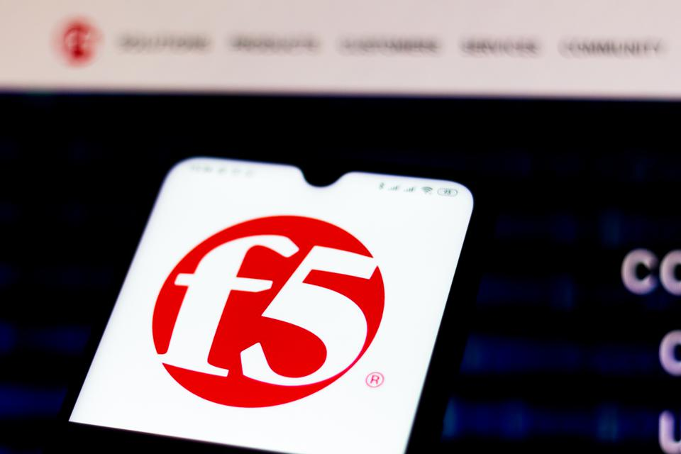 In this photo illustration the F5 Networks website seen...
