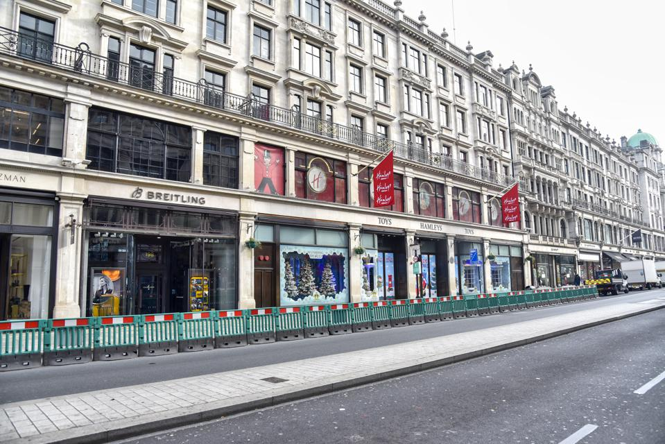 The famous Hamleys toy store in Londons Regent Street is...