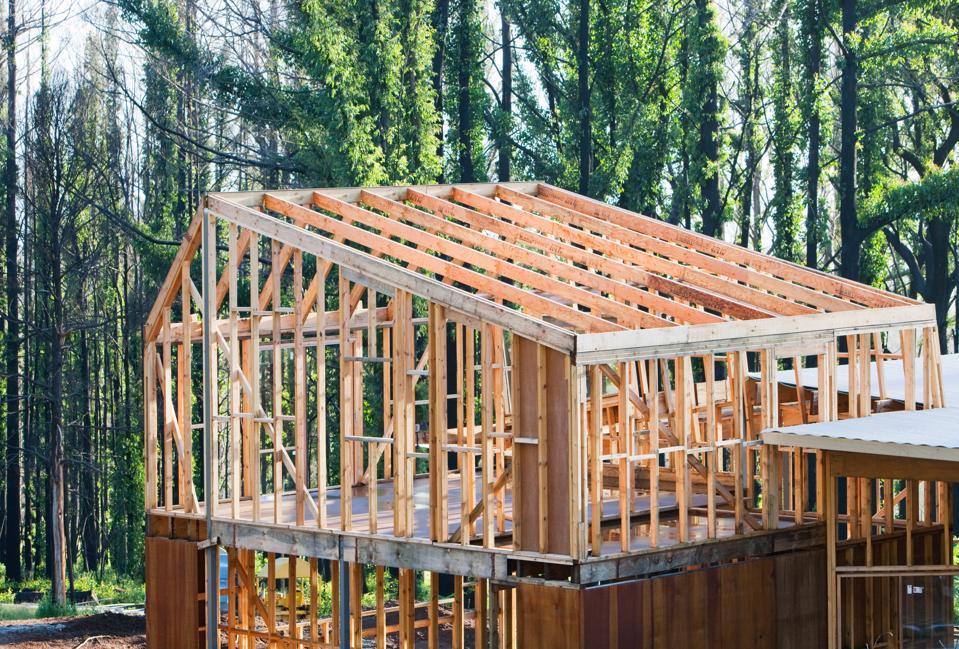 Rebuilding timber houses at Kinglake