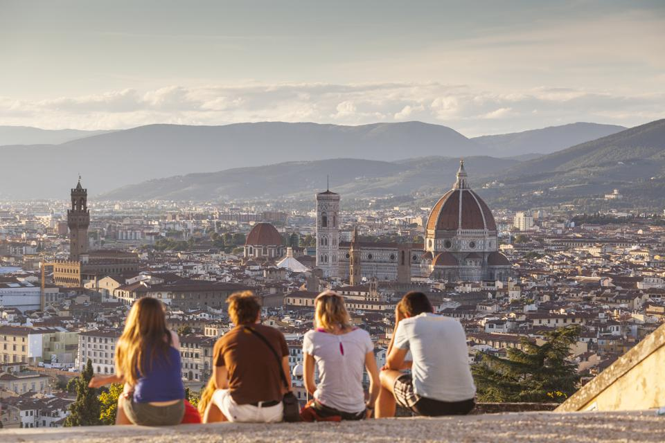 Looking over Florence from San Miniato