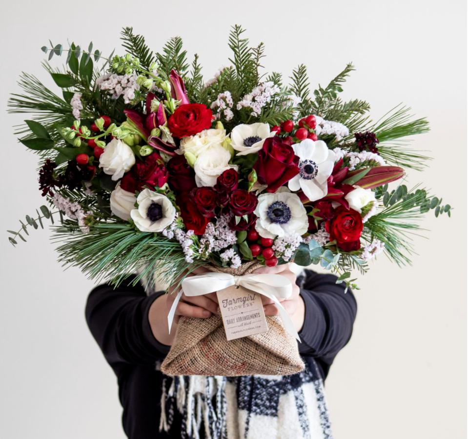 Farmgirl Flowers December with Heart: Hively