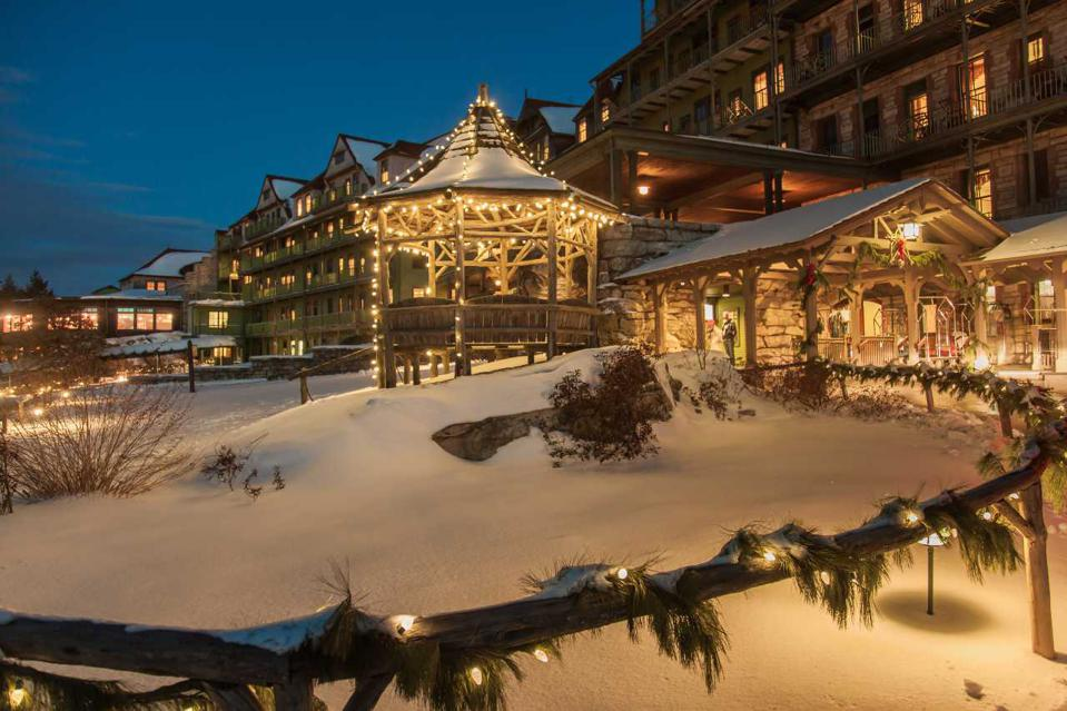 Mohonk Mountain House in the winter