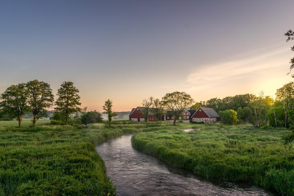A farm in the south of Sweden.