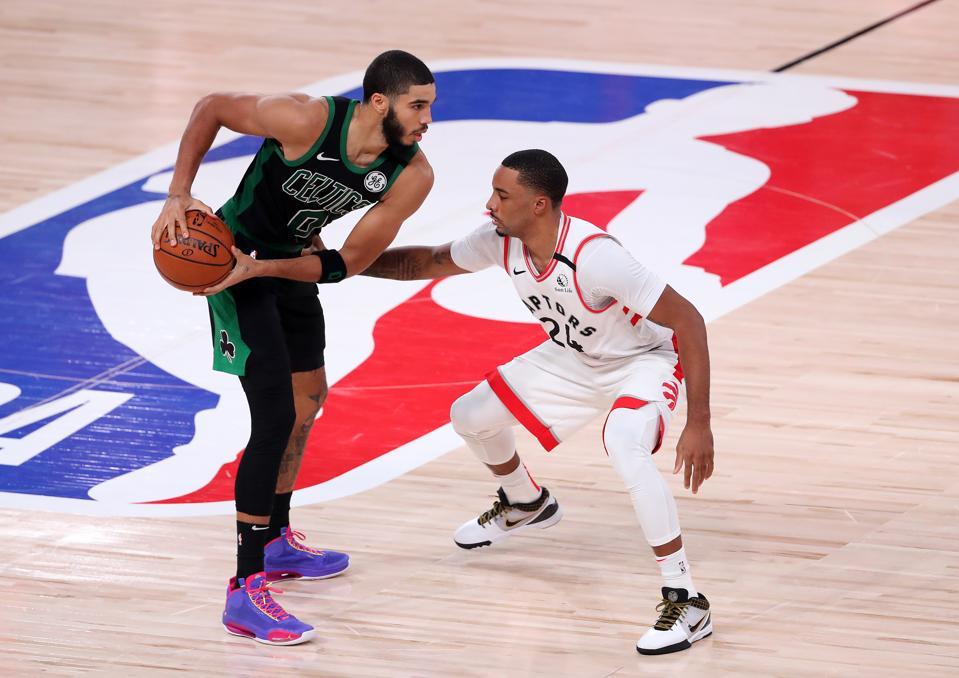 Norman Powell against the Boston Celtics.