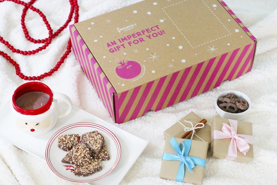 holiday gift box, chocolate, nuts