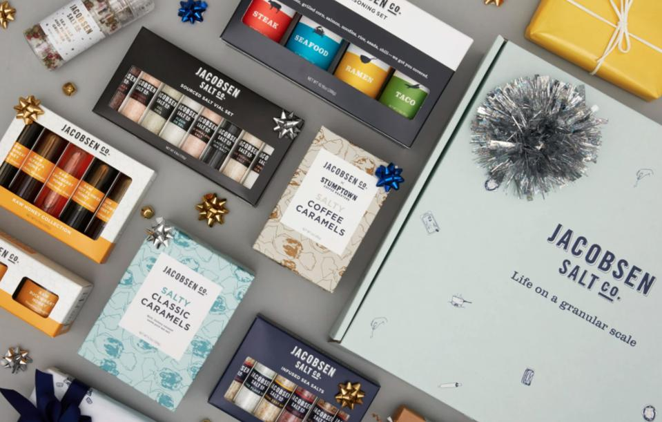 Jacobsen Salt, sea salt, holiday gift box, caramels, stumptown coffee, honey
