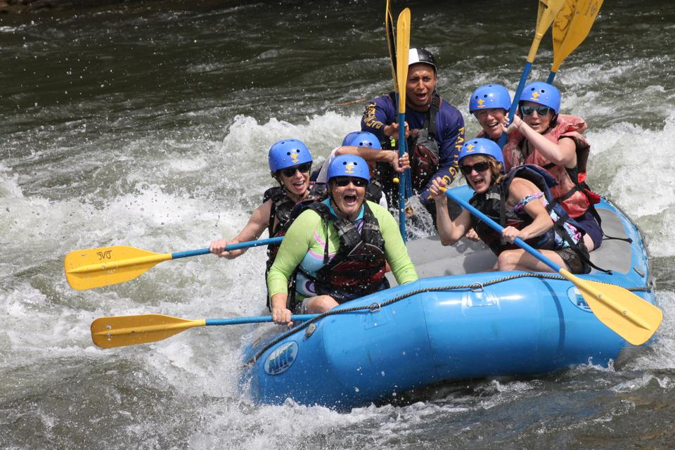 women river rafting