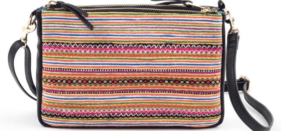 Black Sapa Crossbody Bag by Rafi Nova