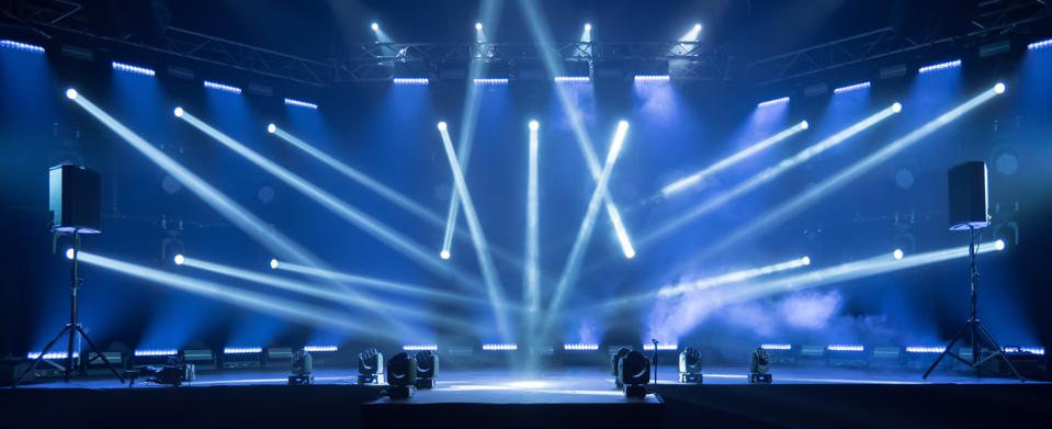 Stage for live concert