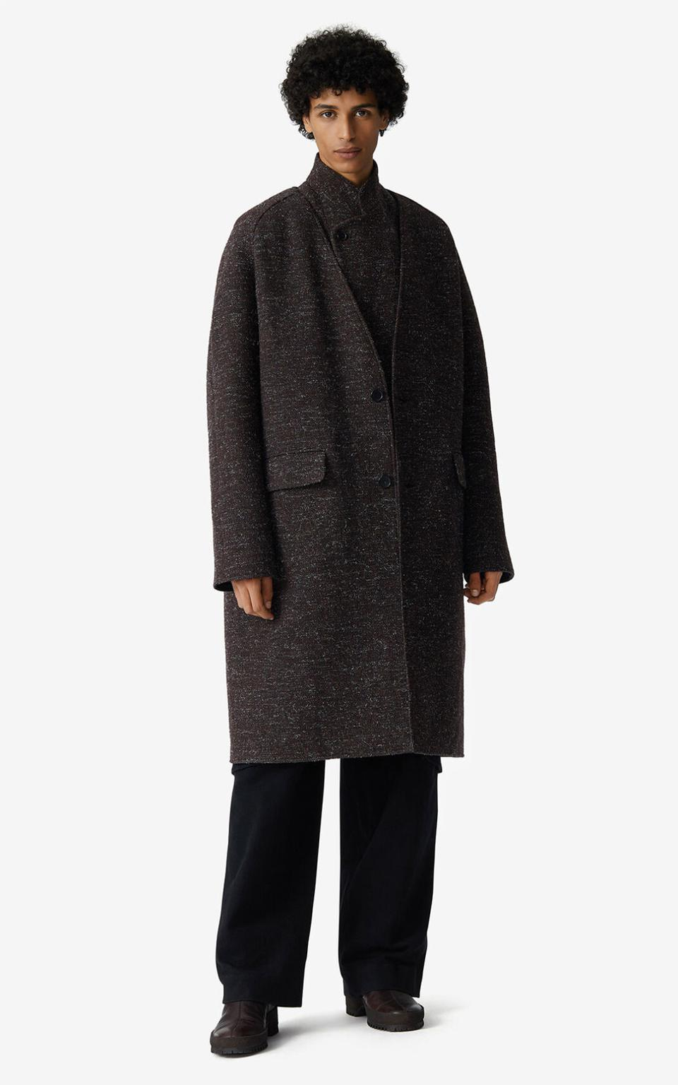 KENZO FW20 Runway Reversible 2-in-1 wool blend coat