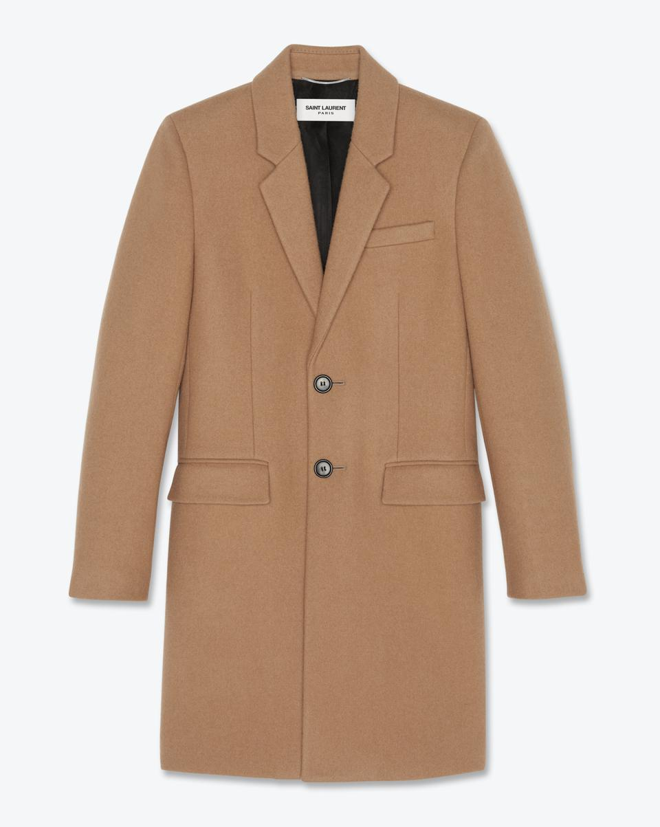 Tailored Coat in Sable Wool Felt