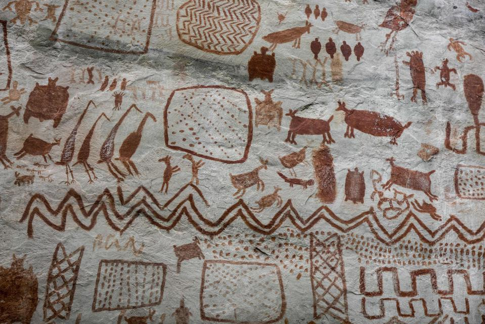 COLOMBIA-PEACE-ARCHAEOLOGY-SERRANIA-LA LINDOSA-ROCK ART