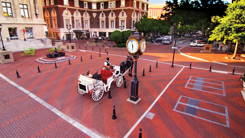 A holiday carriage ride for two in Greenville.