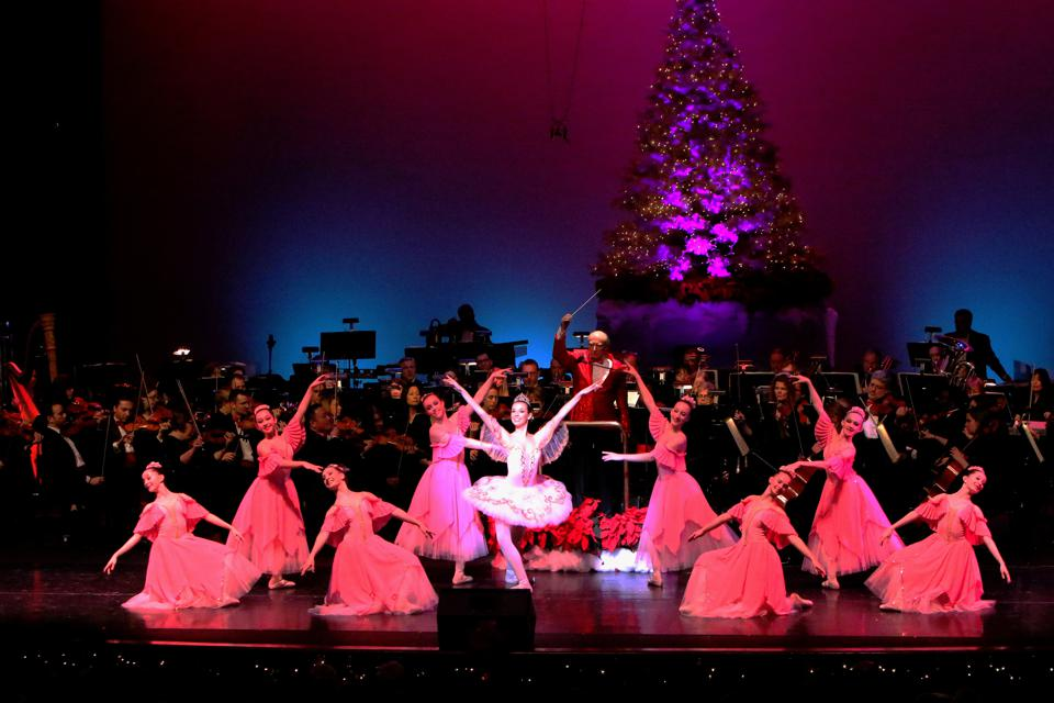 Ballet dancers performing at the Holiday of Peace in Greenville.
